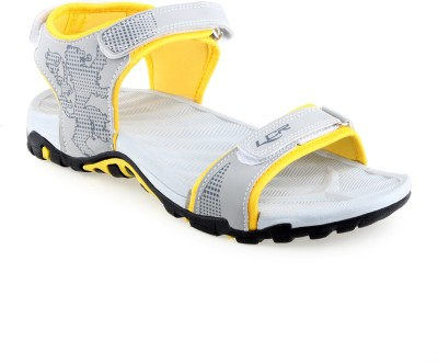 Lancer Men Grey, Yellow Sandals