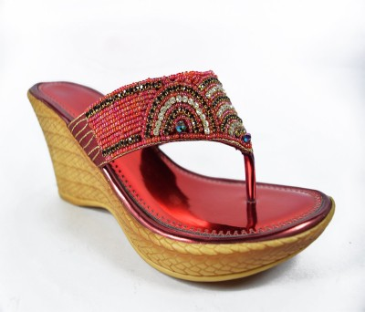 Multi Movin Women Red Wedges