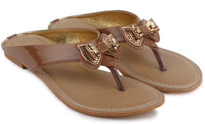 Shezone Women Tan Flats