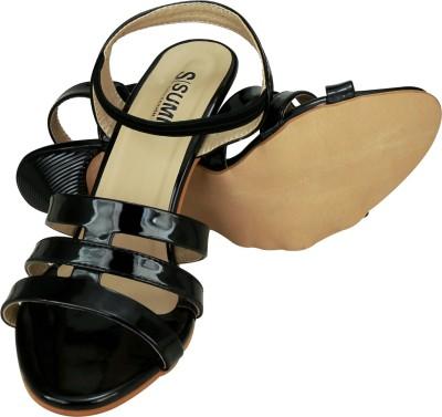 SUMI Collections Women Black Heels