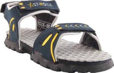 Zapatoz Men Blue, Beige Sandals