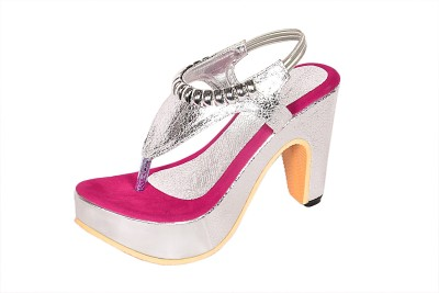 Laila Collection Women Pink Heels