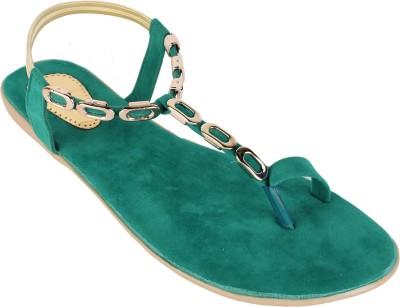 Authentic Vogue Women Green Flats