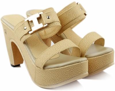 Jency Women Beige Heels