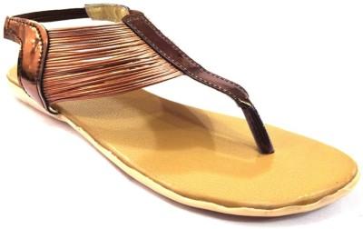 Nshell Women Brown Flats