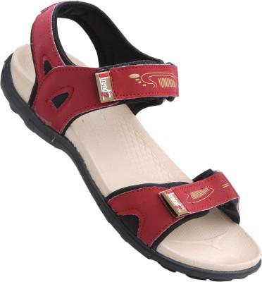 VKC Women Beige, Red Sports Sandals