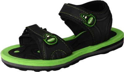 Matrix Men Black, Green Sandals
