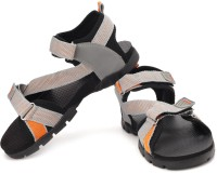 Sparx Men Grey Orange Sports Sandals