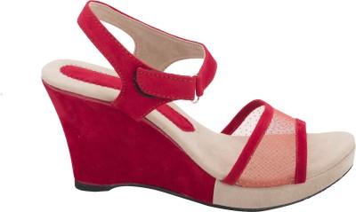 Fashion Feet Women Red Wedges