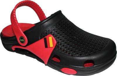 Primes Men Black, Red Sandals