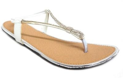 Nshell Women White Flats
