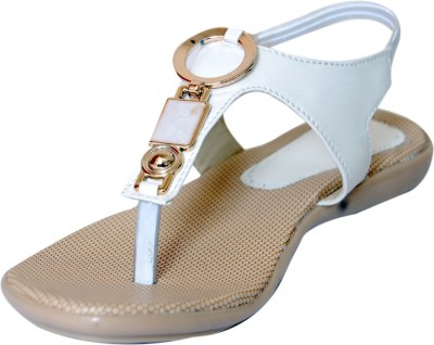 Gizelle Girls White Flats