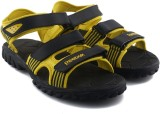 Reebok Men BLACK/YELLOW Sports Sandals