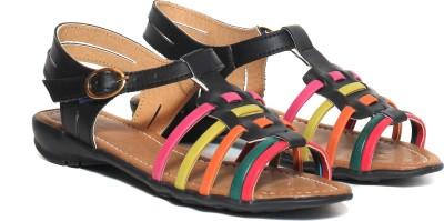 Craze Shop Multi Colour Girls Black, Multicolor Flats