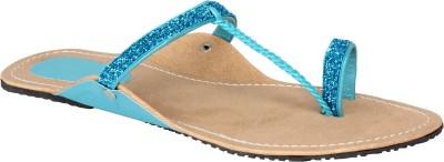 Jade Kolhapuri Women Blue, Beige Flats