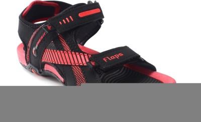 Flaps Men Red, Black Sandals