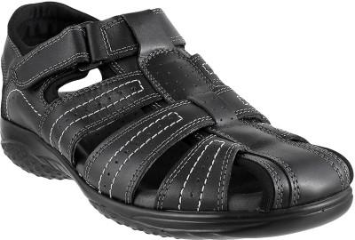 Metro Men Black Sandals