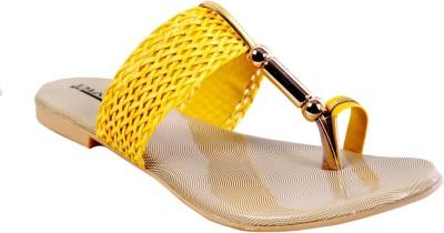 New Divas Women Yellow Flats
