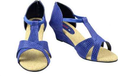 Canvera Women Blue Wedges