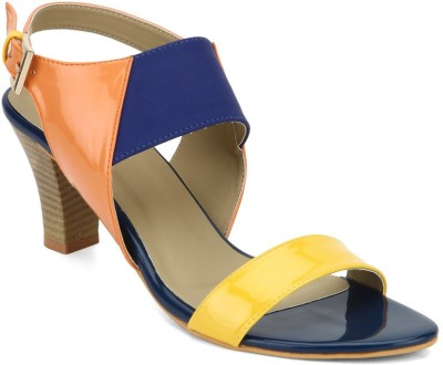 American Swan Women Orange Heels