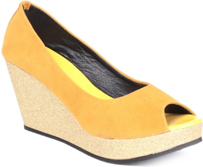 Soft & Sleek 1349 Yellow Women Yellow Wedges