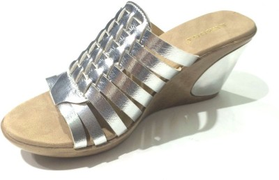 SWAGGA Women Brown, Silver Wedges