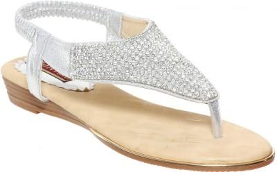 Flat n Heels Women Silver Flats