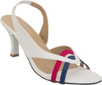 NE Shoes Women White Heels