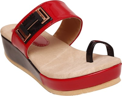 Unique Selection Women Red Wedges