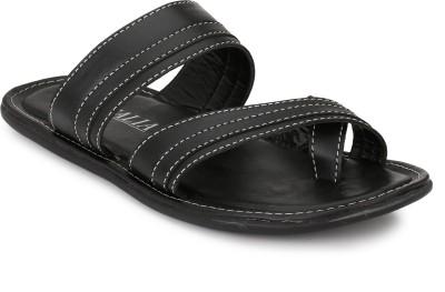 italia Men Black Sandals
