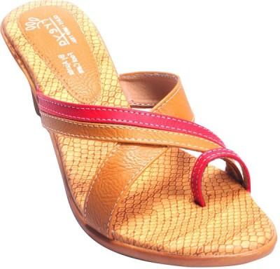Ajanta Red Women Beige Heels