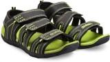 Corpus Men Black::Green Sandals