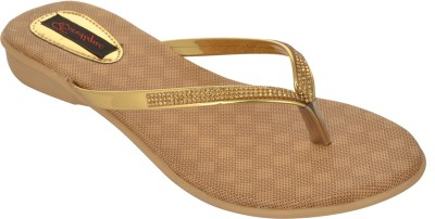 Exotique Women Gold Flats