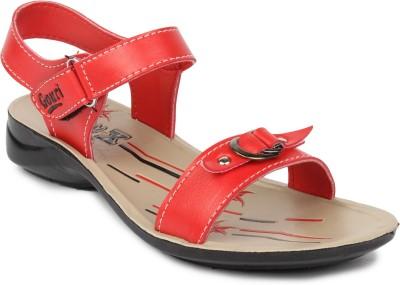Gouri Women Beige, Red Flats