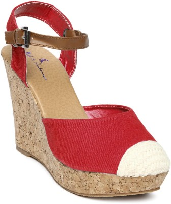 Mast & Harbour Women Red Wedges