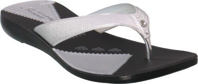 Action Shoes Women Silver Flats