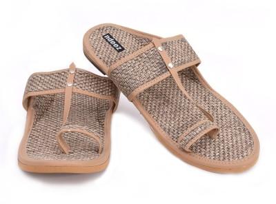 ndeez Men Gold Sandals