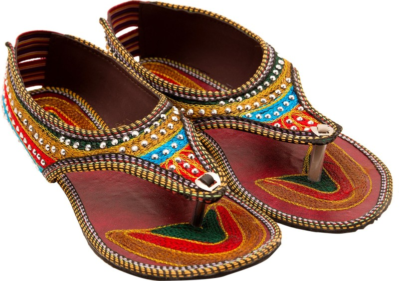 Santosh Art Collection Women Multicolor Flats