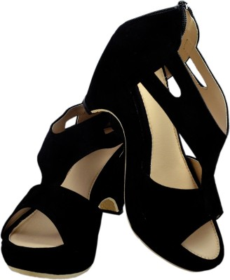 Olive Fashion Women Black Heels