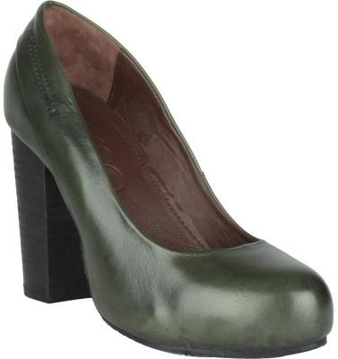Salt N Pepper 13-485 Rebbaca Green Women Green Heels