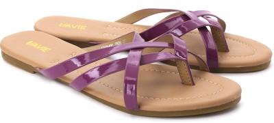 Lavie Women Tan, Purple Flats