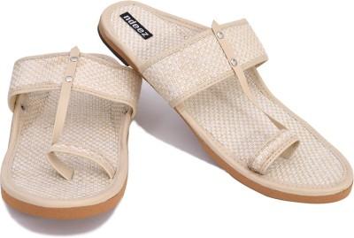 ndeez Men White Sandals