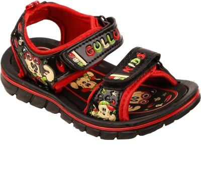 Hot Dog Baby Boys Black, Red Sandals