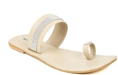 Kosher Klss024-Cream Women Beige Flats