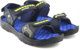 Lotto Men Navy/Yellow Sports Sandals