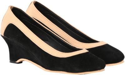 Butterfly Women Black, Beige Heels