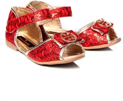 Trilokani Girls Red Sports Sandals