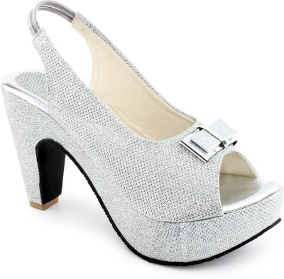 Shoe Lab Women Silver Heels