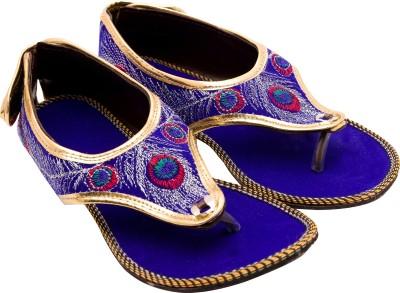 Santosh Art Collection Women Blue Flats