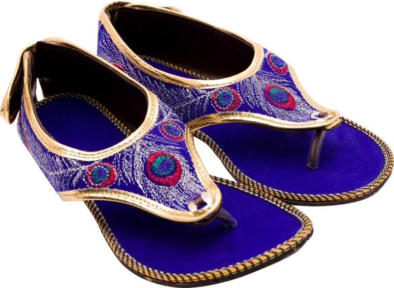 Santosh Art Collection Women Blue Flats